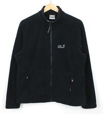 Jack Wolfskin Womens Polartec Zip Through Black Long Sleeve Fleece Outdoors - XL