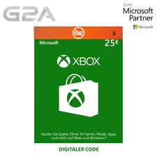 Xbox Live €25 Card - 25 Euro Microsoft Guthaben - MS Xbox 360/One EUR 25€ Karte