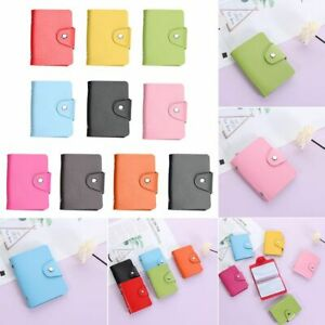 PU Leather Solid Color Business Card Clip Wallet Card Holder Card Organizer