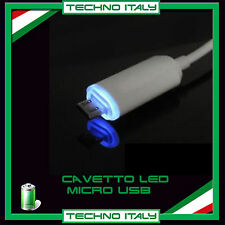 Cavetto LED Micro USB Data Charger Cavo per HTC LG Samsung Galaxy S3 S4