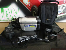 SONY DCR-DVD110E HANDYCAM HYBRID VIDEO CAMCORDER + CHARGER & CASE + CABLE