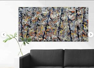 """Jackson Pollock Canvas Print """"Blue Poles"""" Famous painting Abstract expressionist"""