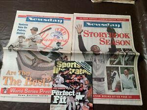 NY Yankees 1998 World Series Preview & Commemorative  Sports Illustrated 11/2/98