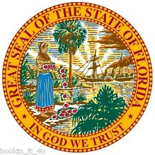 ***FLORIDA STATE SEAL VINYL  DECAL / STICKER****
