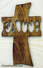 Faith Cross, New Handmade Wood, for Wall Hanging or Ornament, Item S4-5