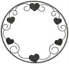 1112:   Machine Embroidery Designs - Circles & Swirls - Redwork