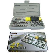 Bit Set 41-tlg. Ratschenset Werkzeugset Schlüsselsatz Schraubendreher Bithalter