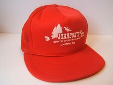 Johnson's Country Store Hat Vintage Red Snapback Trucker Cap