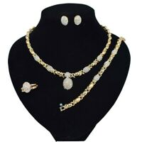"#6 hugs & kisses necklace with bracelet 18"" Xo earrings (ring size 9) 18k..."
