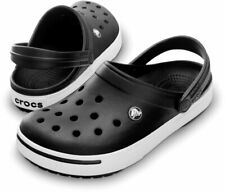 Crocs CrocBand II Black White Clogs Slip On Classics Slide Sandals 11989 060 New