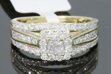 10K Oro Amarillo 1.10 Quilates Mujer Princesa Anillo de Compromiso Diamante Boda
