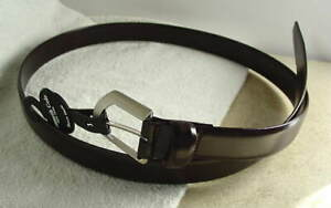 KENNETH COLE New York Brown Leather Dress Belt Mens Size 32 NEW NWT #4722