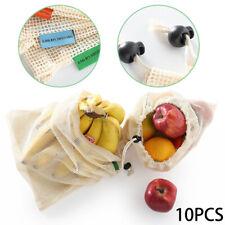10 Pcs Eco-friendly Reusable Drawstring Bags Food Storage Mesh Packaging Bags