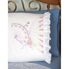 Fairway Needlecraft Pillow Case 2pk for Stamped for Embroidery Umbrella Lady