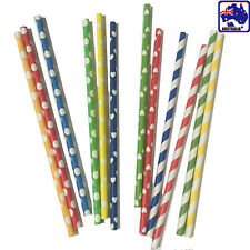 48pcs Polka Dot Heart Shape Striped Party Paper Straws Craft Straw HKTUB 40x48pc