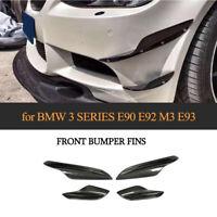 Carbon Front Splitter Flaps Canard Wings Frontlippe für BMW E90 E92 E93 M3 05-12