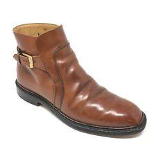 Men's VTG Johnston Murphy Aristocraft Ankle Boots Shoes Size 8D Brown Buckle R3