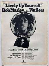 BOB MARLEY 1975 original POSTER ADVERT LIVELY UP YOURSELF Natty Dread