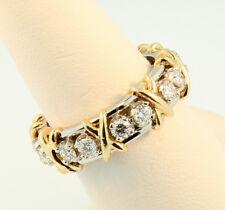 Tiffany & Co Schlumberger Sixteen Stone Diamond Ring Platinum+Gold Sz 5.75