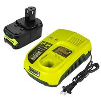 18V 6.0Ah Battery & Charger for Ryobi ONE+ Plus P117 P102 P106 P108 Lithium Ion