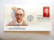 """September 26th, 1986 """"T.S. Eliot"""" First Day Cover"""