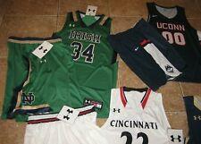 LOT Men's NCAA Basketball Jersey/Short UCONN, Notre Dame, Navy & More!