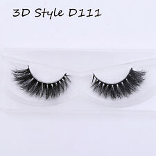 9 Styles 3d Real Mink False Eyelashes Thick Cross Long Lashes Extension D22