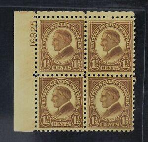CKStamps: US Stamps Collection Scott#582 Block Mint 3NH 1H OG