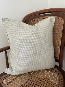 Set of Two Jenny Steffens Hobick JSH Green Gingham Pillow Covers