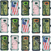 For Samsung Galaxy S7/S7 Edge Camo Case Cover(Belt Clip Fits Otterbox Defender)