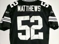 Clay Matthews Black out Team Jersey NFL Stitched 52 Green Bay Packers LA Rams