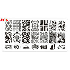 10Color Lace Design Stencil Nail Art Image Stamping Plate Manicure Template Tool