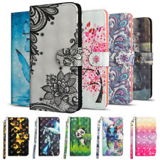 For MOTO G8 G7 G6 G5S E6 E5 Plus Flip Painted Leather Case Magnetic Wallet Cover