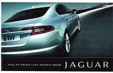 Jaguar xf saloon spécification 2009 uk brochure luxe premium portefeuille xfr