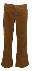 Mens Vintage 60s 70s Retro Tan Bootcut Flared Cords