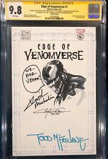 Clayton Crain ORIGINAL Sketch Art CGC 9.8 Spider-Man Signed Venom TODD MCFARLANE