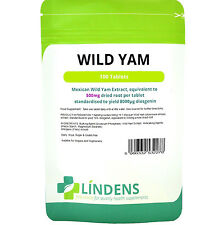 Mexican Wild Yam 500mg Tablets Diosgenin (100 pack) Lindens