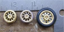 1/32 -CUSTOM WHEELS & TIRES 3/4 INCH DIA. WITH 1 AXLES--  LOT 16