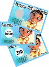 BABY MOANA SCRATCH OFF OFFS PARTY GAMES CARDS BIRTHDAY FAVORS SCRATCH OFFS GAME