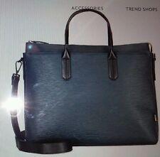 "BEN MINKOFF  "" Brompton Brief"" Ribbed Genuine Leather 100% Aut Navy retails $375"
