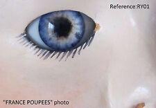 Reborn yeux BLEU 22mm RY01 poupée MODERNE/Vintage/Realistic doll eyes polymer