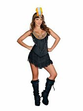 Reservation Royalty Indian Costume (Black) for Women size M New Dreamgirl 8196