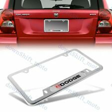 1PCS For DODGE RAM NEW Silver Metal Stainless Steel License Plate Frame