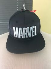 910d3e3c91b Marvel Comics Black Shiny Snapback hat NWT
