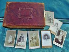 Ancien album photo ancien Médaillon XIX siècle France Antique antique photo albu