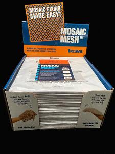 Mosaic Backing Mesh Pack of 11 = 1m², 30cm x 30cm sheet size, self adhesive.