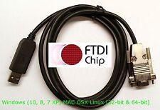 FTDI USB Uniden Scanner Programming Cable BCD996XT BCD996T BCT15 BCT15X ST-DB-9F