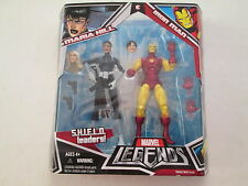 MARVEL LEGENDS SHIELD LEADERS MARIA HILL IRON MAN HASBRO 2008 2 PACK FIGURES mob