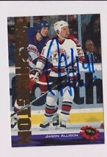 94/95 Classic Jason Allison Portland Pirates Autographed Hockey Card