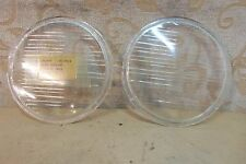 """2 NOS GENUINE BUTLERS 5.7/16"""" HEADLAMP GLASS LANDROVER SERIES ONE 80"""" # 1145/8"""